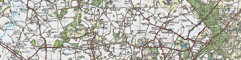 Old map of Tickleback Row in 1919
