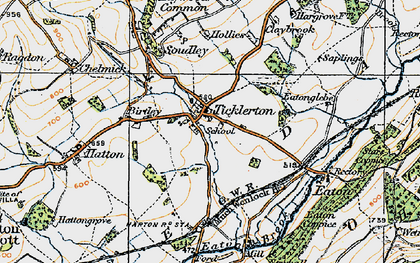 Old map of Ticklerton in 1920