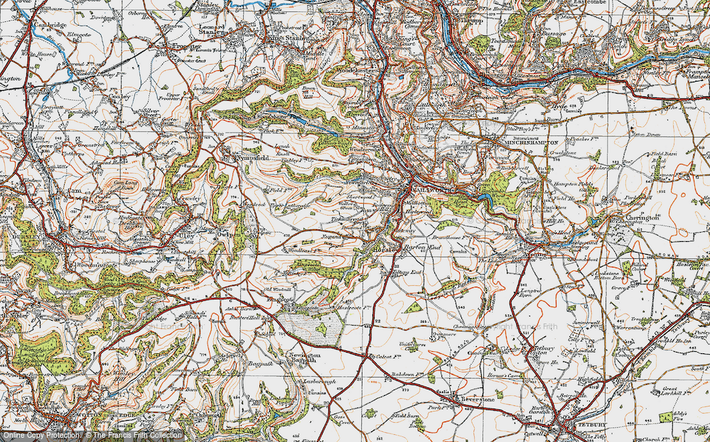 Old Map of Tickmorend, 1919 in 1919