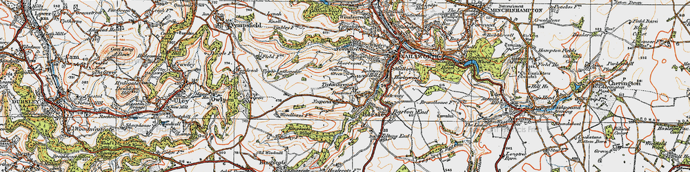 Old map of Tickmorend in 1919