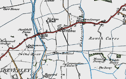 Old map of Tickton in 1924