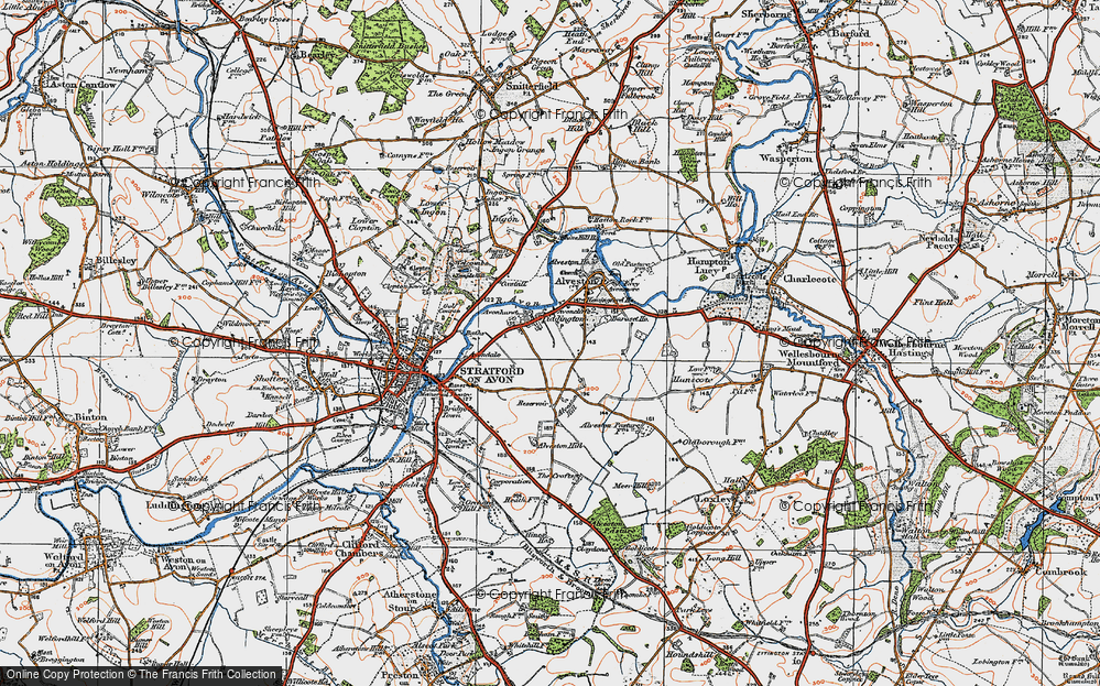 Old Map of Historic Map covering Baraset in 1919