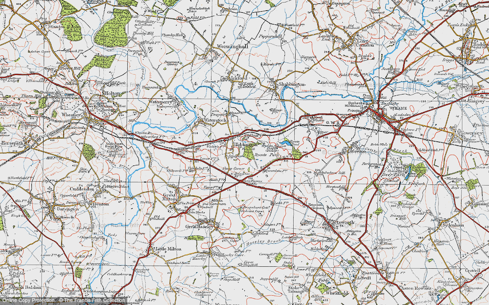 Old Map of Tiddington, 1919 in 1919