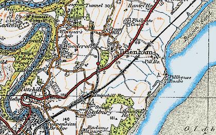 Old map of Tidenham in 1919