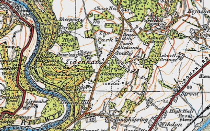 Old map of Tidenham Chase in 1919