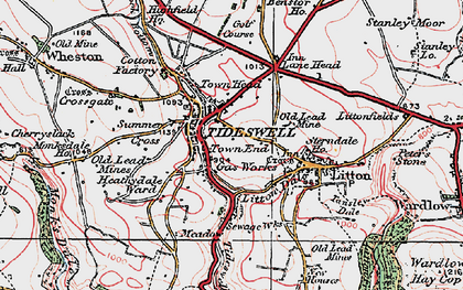 Old map of Tideswell in 1923
