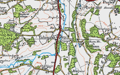 Old map of Tidmarsh in 1919