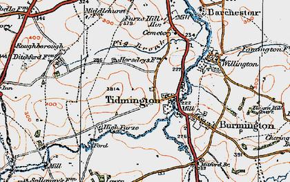 Old map of Tidmington in 1919