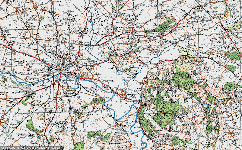 Old Map of Tidnor, 1920 in 1920