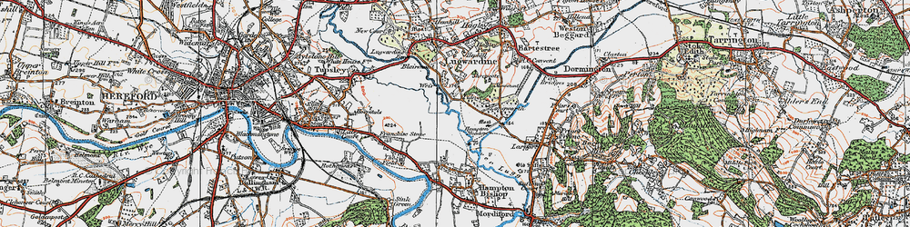 Old map of Tidnor in 1920