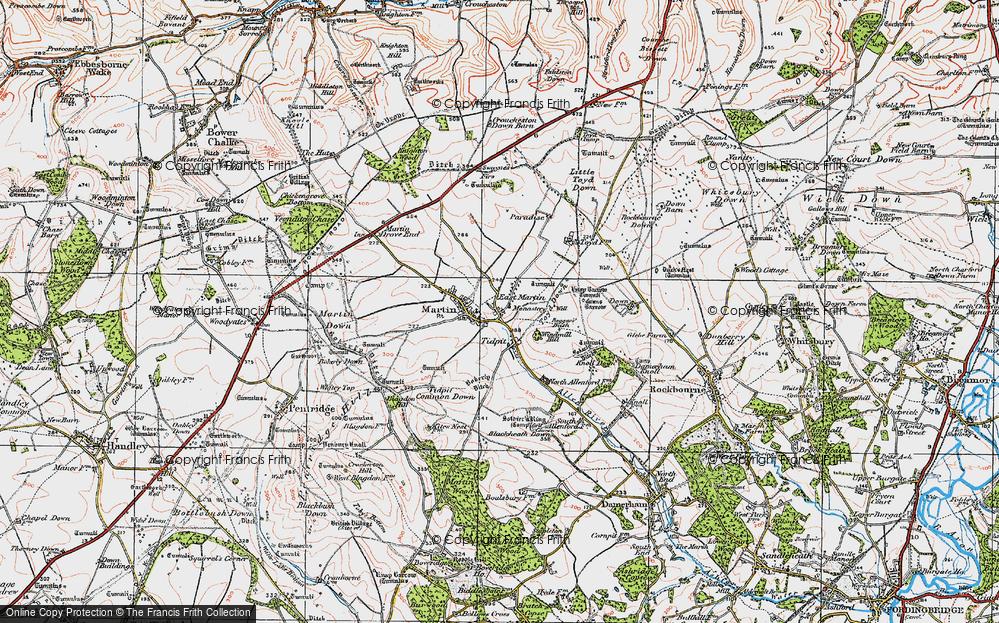 Old Map of Tidpit, 1919 in 1919