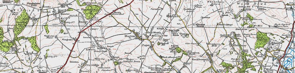 Old map of Tidpit in 1919