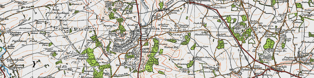 Old map of Tidworth in 1919