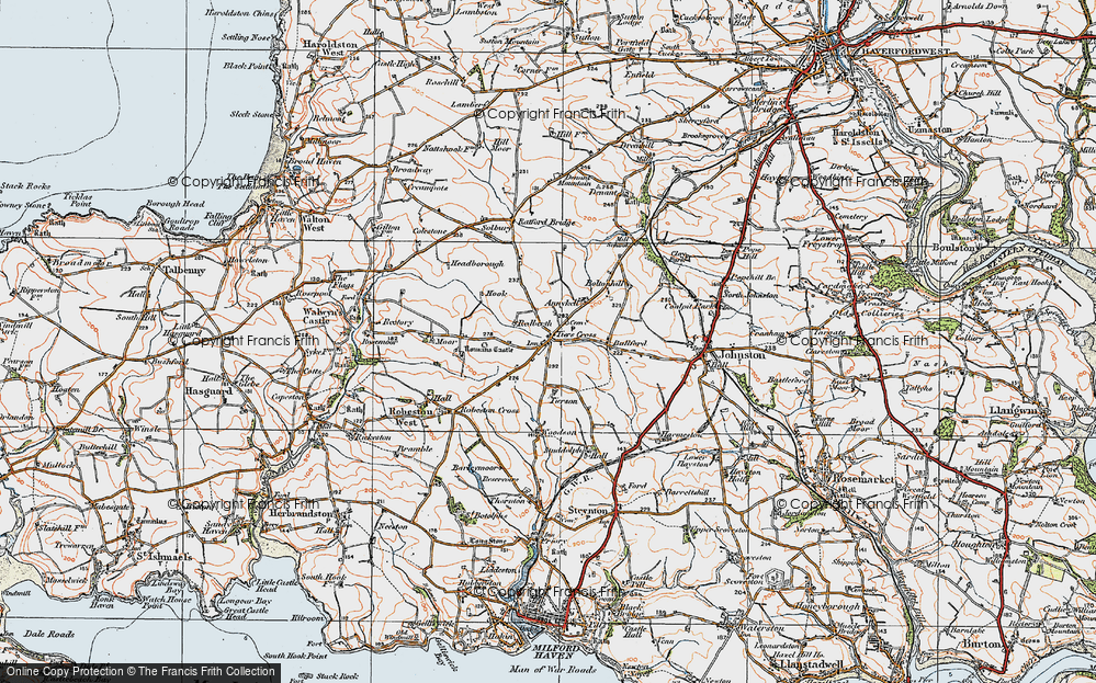 Old Map of Historic Map covering Tierson in 1922