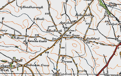 Old map of Tierson in 1922