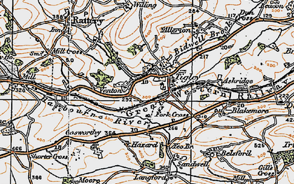Old map of Allerton in 1919