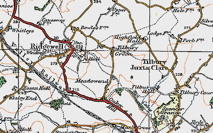 Old map of Tilbury Green in 1921