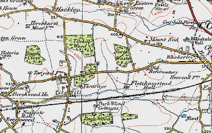 Old map of Tile Hill in 1921