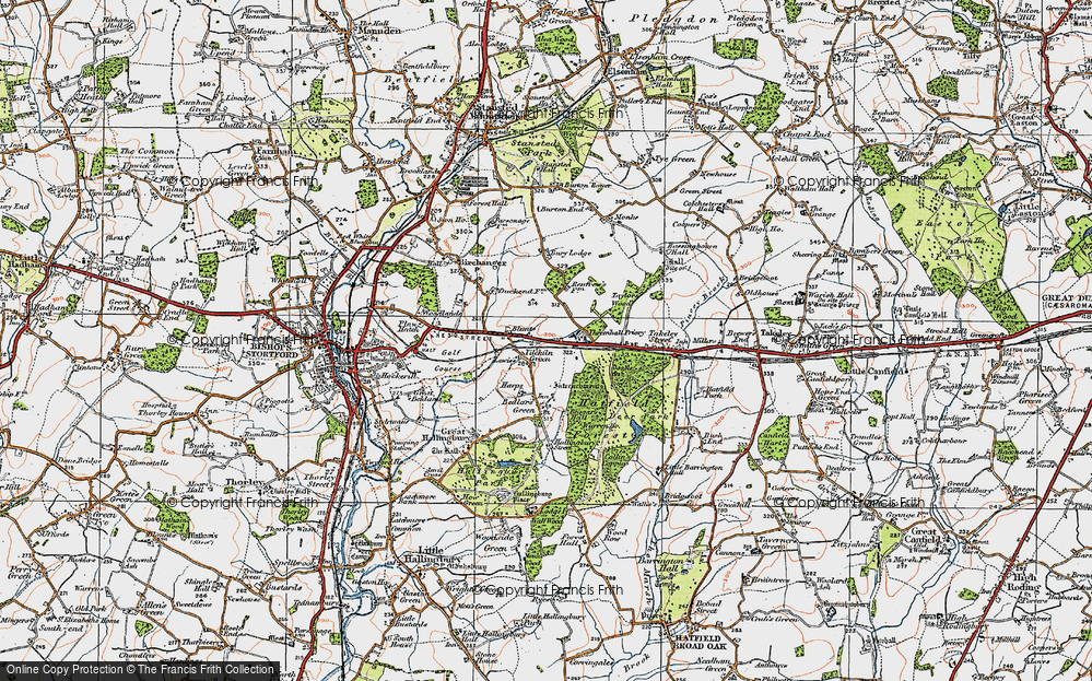 Old Map of Tilekiln Green, 1919 in 1919