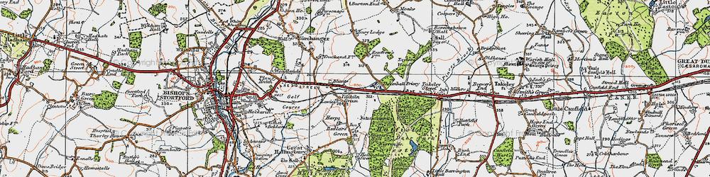 Old map of Tilekiln Green in 1919