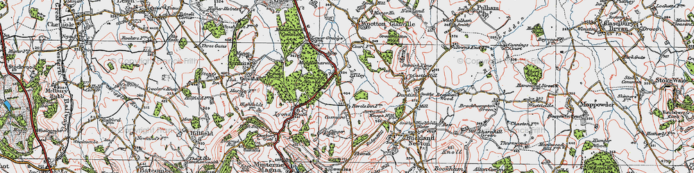 Old map of Tiley in 1919