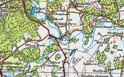 Old map of Tilhill Ho in 1919