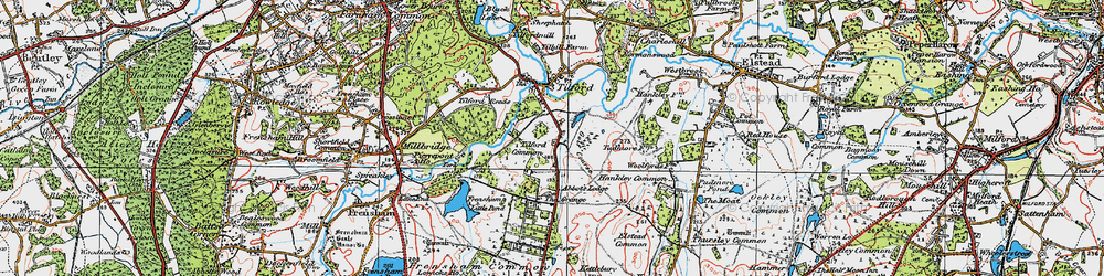 Old map of Yagden Hill in 1919