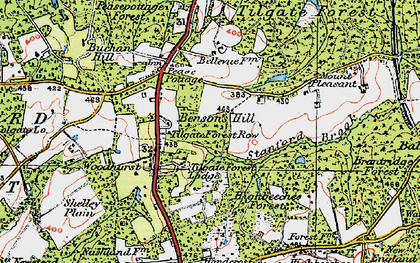 Old map of Tilgate Forest Row in 1920