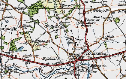 Old map of Tilkey in 1921