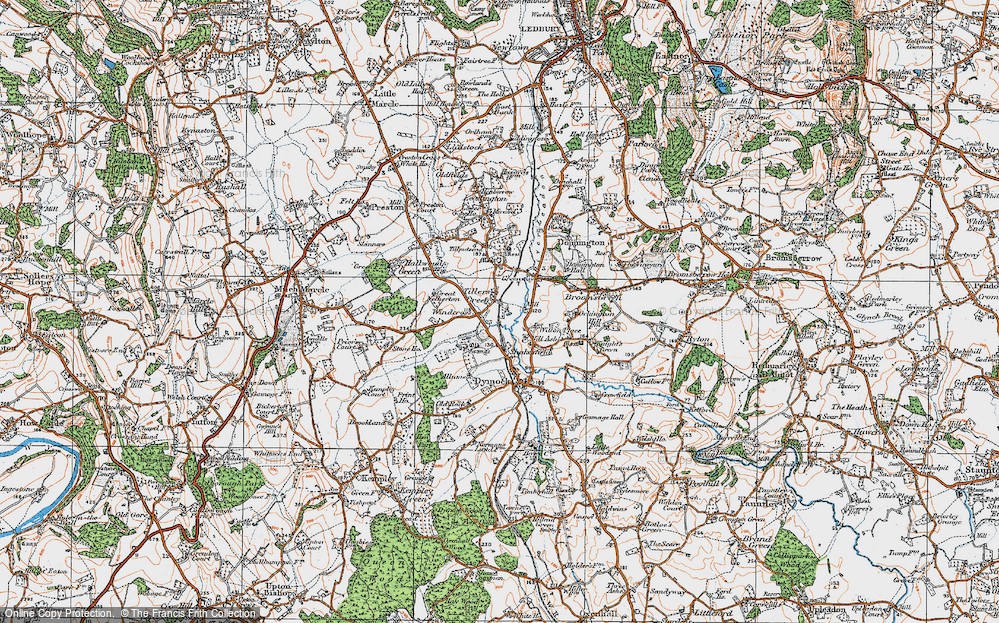 Old Map of Tillers' Green, 1919 in 1919