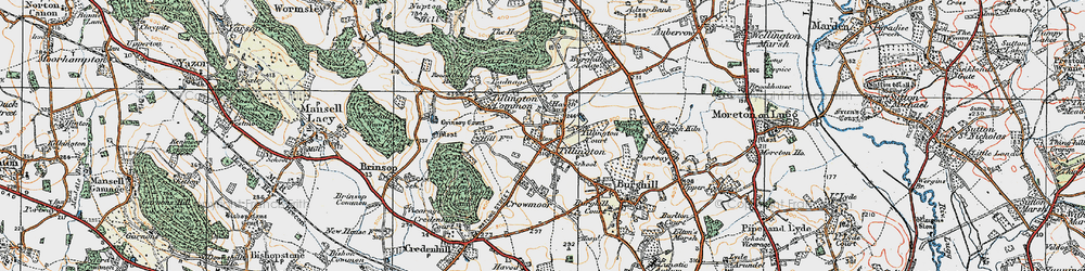 Old map of Tillington in 1920