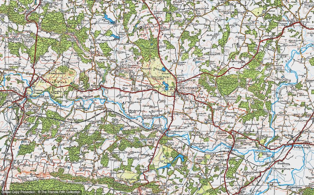 Old Map of Tillington, 1920 in 1920