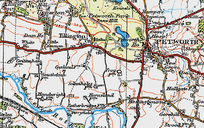 Old map of Tillington in 1920