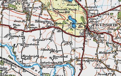 Old map of Tillington Ho in 1920
