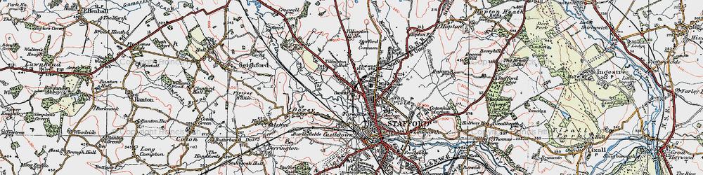 Old map of Tillington in 1921