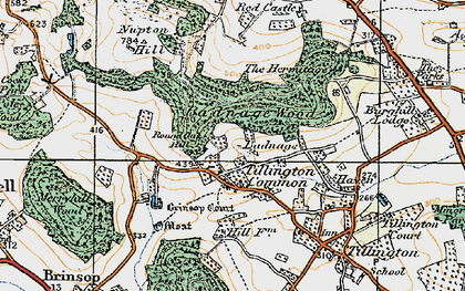 Old map of Badnage in 1920