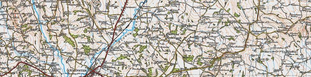 Old map of Tillworth in 1919