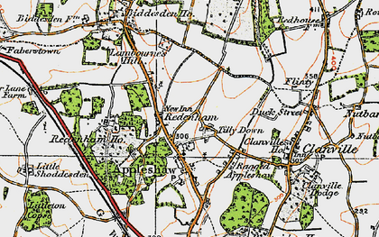 Old map of Tilly Down in 1919