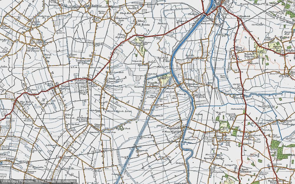 Old Map of Tilney cum Islington, 1922 in 1922