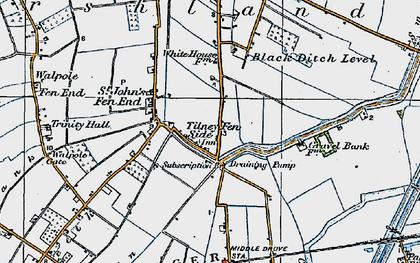 Old map of Tilney Fen End in 1922