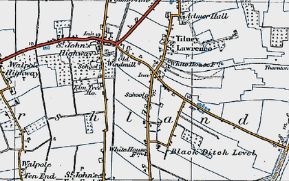Old map of Aylmer Hall in 1922