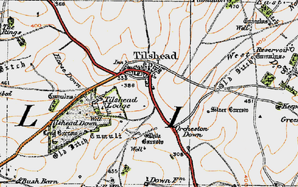 Old map of White Barrow (Long Barrow) in 1919