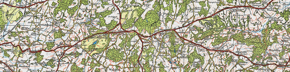 Old map of Tinkers Hatch in 1920