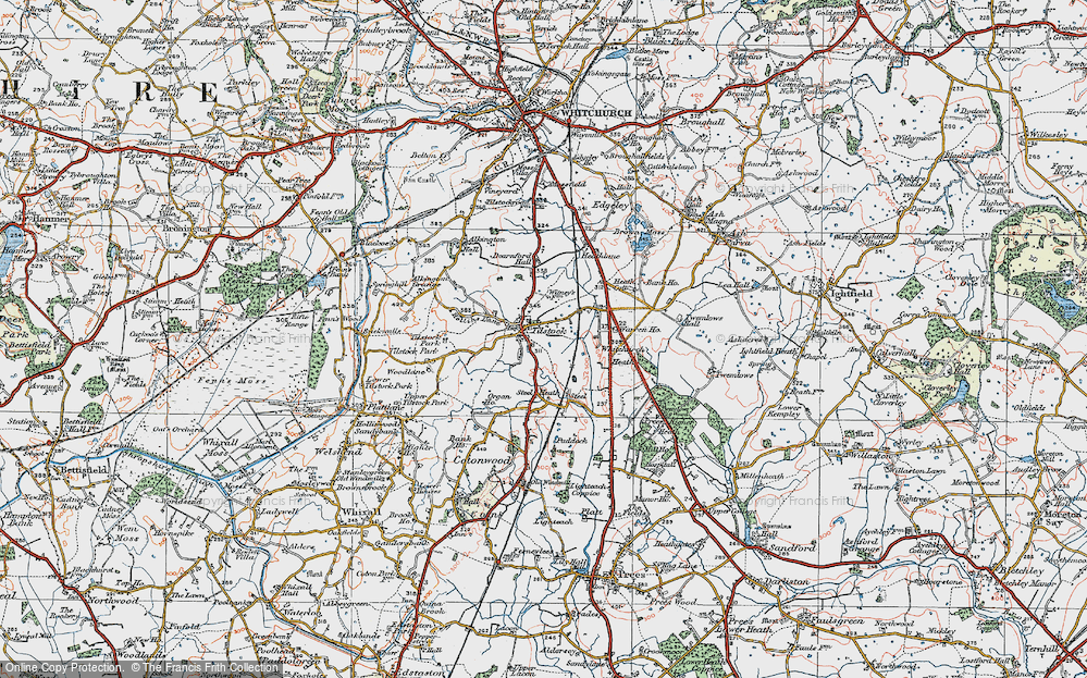 Old Map of Tilstock, 1921 in 1921