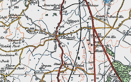Old map of Tilstock in 1921