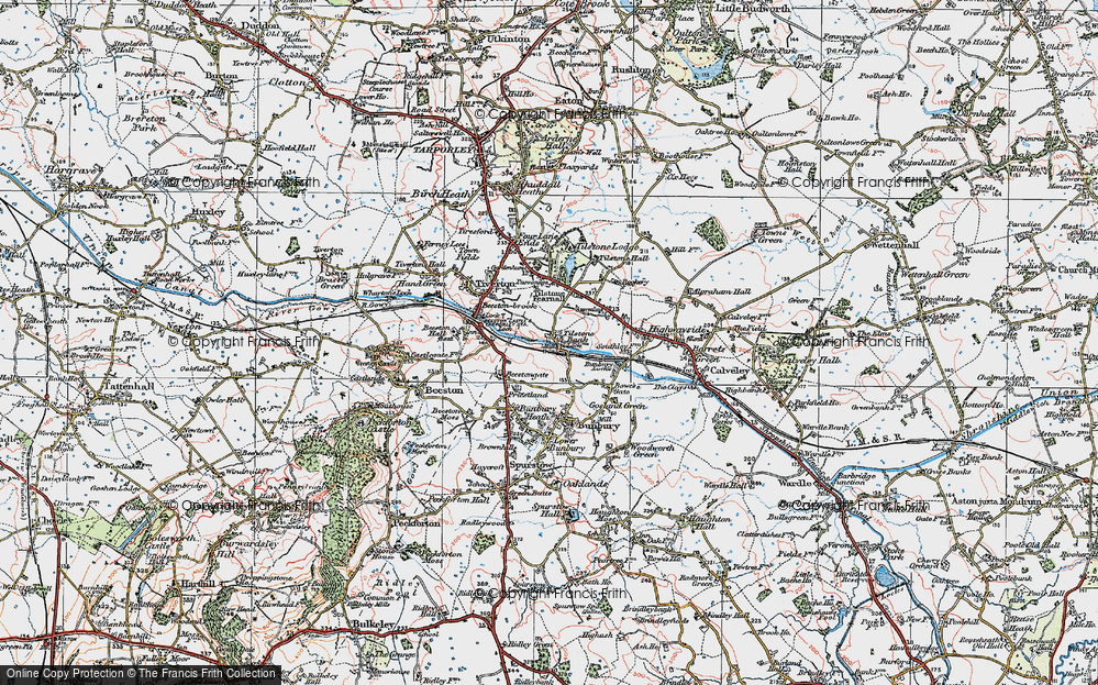 Old Map of Tilstone Bank, 1923 in 1923
