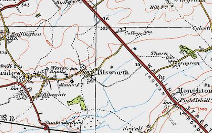 Old map of Tilsworth in 1920