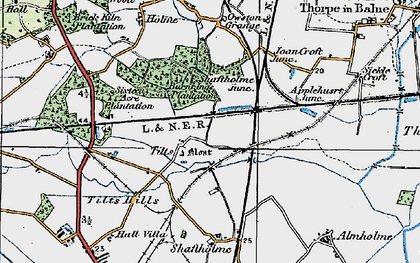 Old map of Tilts in 1923