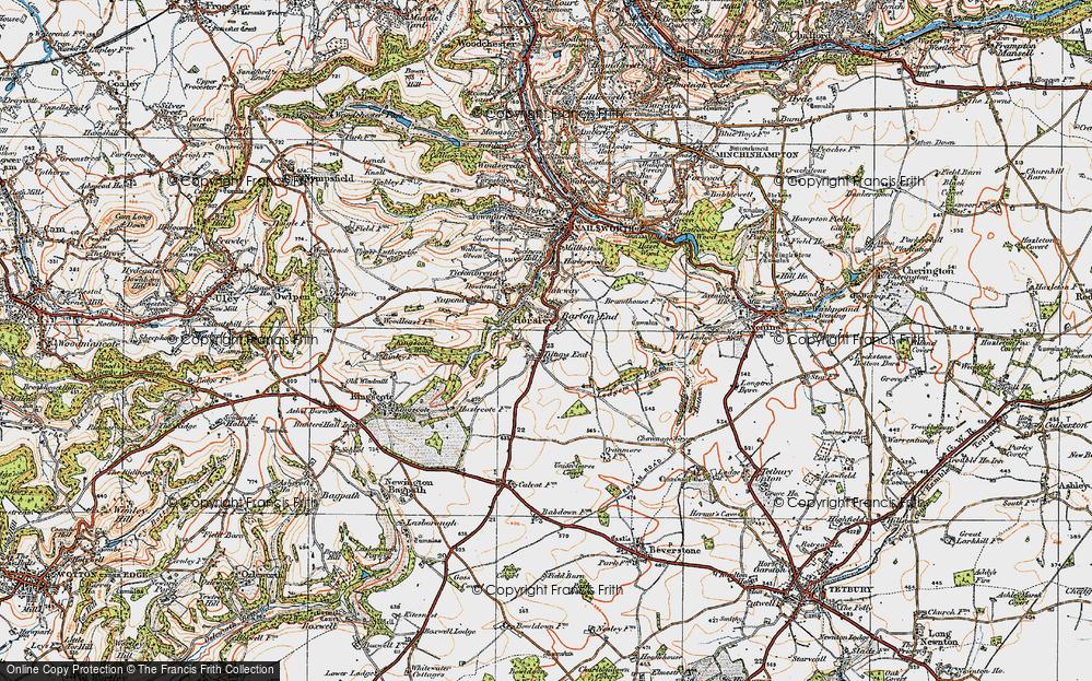 Old Map of Tiltups End, 1919 in 1919