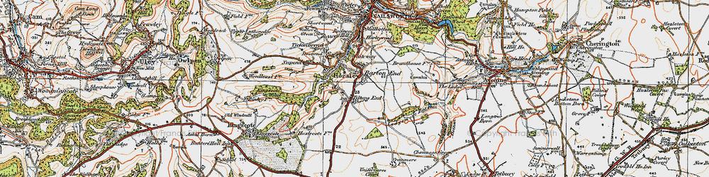 Old map of Tiltups End in 1919